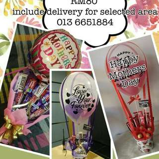 Special Promo hot air balloon bouquet for mothers day and teachers day