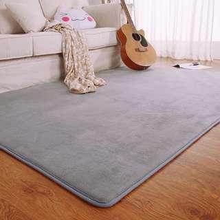🚚 珊瑚絨灰色地毯