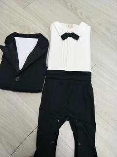 嬰兒二件式帥氣西裝