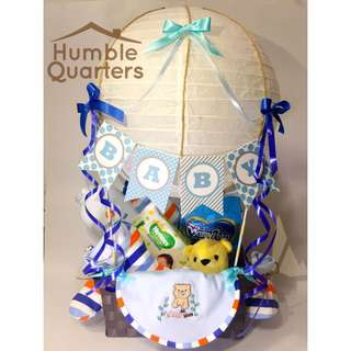 Hot air balloon baby hamper/ gift