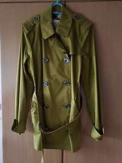 LAST PRICE! BURBERRY BRIT Green Trench Coat