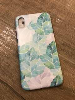 iphone X case 樹葉