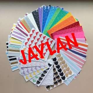 (NEW colours added) Polaroid/Photo Corner Sticker