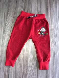紅色長褲(9碼) 非包屁衣 嬰兒連身衣 兔裝 洋裝 外套 T恤