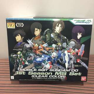 HG 1/144 Mobile Suit Gundam 00 1st Season MS Set [Clear Colour]