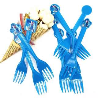 ❄️ Frozen Party Supplies - Blue party forks