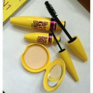 Maybelline 3in1 compact powder+ mascara + liquid eyeliner