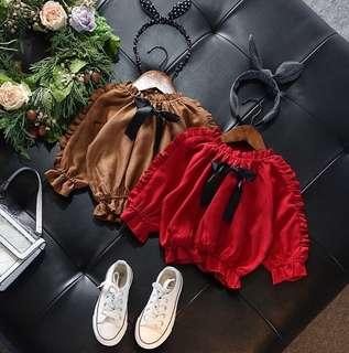 Girl Short Jacket Baby Bow Princess Shirt