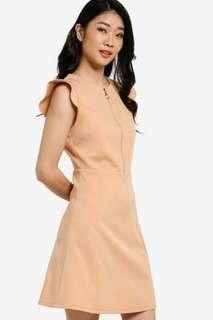 Zalora collection frilled sleeve dress