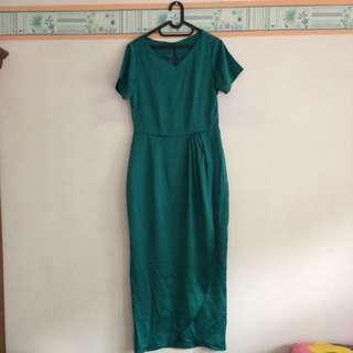Long Dress Emerald Green