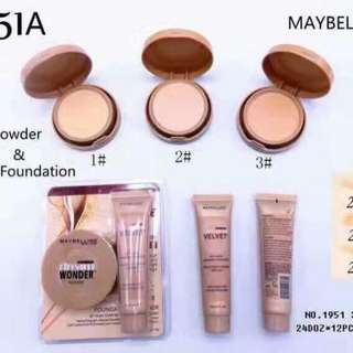 Maybelline wonder set powder & liquid foundation