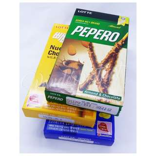Pepero Nude Chocolate Choco Filled Almond Coconut Korean