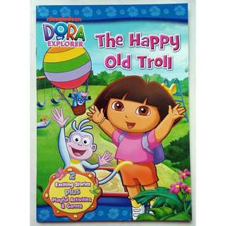 Dora The Explorer Activity & Story Book The Happy Old Troll