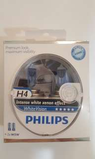 H4 Philips White Vision 4300K