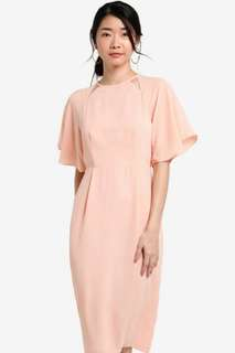 Zalora collection cut out flared sleeve dress