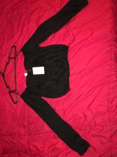 H&m cropped top brand new size small