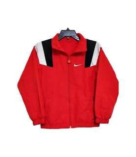 Vintage 古著Nike拼接紅色薄外套(平量尺寸cm)
