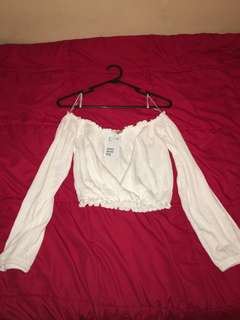 H&m cropped top size small brand new