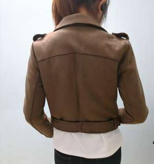 50% Offer Suede Jacket in Brown