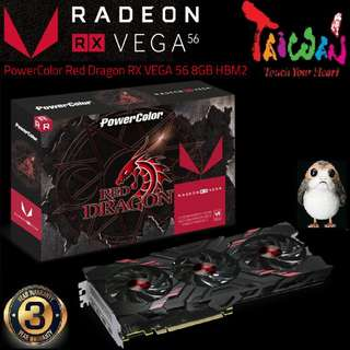 """POWERCOLOR RED DRAGON RX VEGA 56 HBM2 ( 3Y ) """" 3 month ago, OLD )"""
