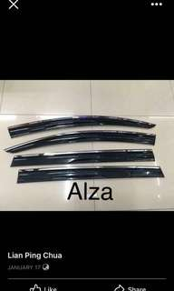 alza door visor chrome