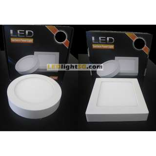12W LED Surface Panel Ceiling Light Square Round