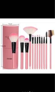 Preloved makeup set brush (BLACK)