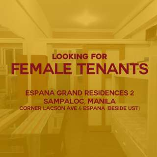 LF: 3 Female Tenants near UST