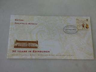 GB UK England 30 Years in Edinburgh FDC