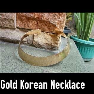 Gold Korean Necklace Kalung Emas Choker