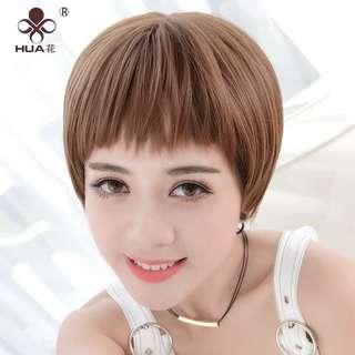 假髮 狗啃 短髮 糖果棕 wig