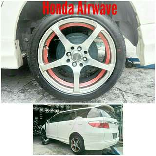 Tyre 205/45 R16 Membat on Honda Airwave 🐕 Super Offer 🙋‍♂️