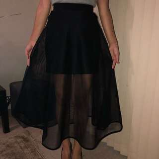 Sheike Big Black A-Line Formal Skirt