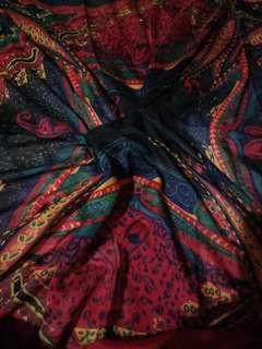 Red pattern scarf free ongkir
