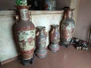 Guci Antik Cina, Satu Set 4 Buah..