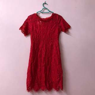 BRAND NEW // Lace Red dress