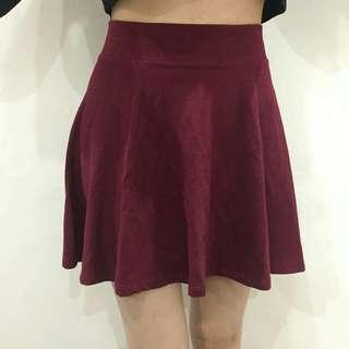 Forever21 flare red skirt