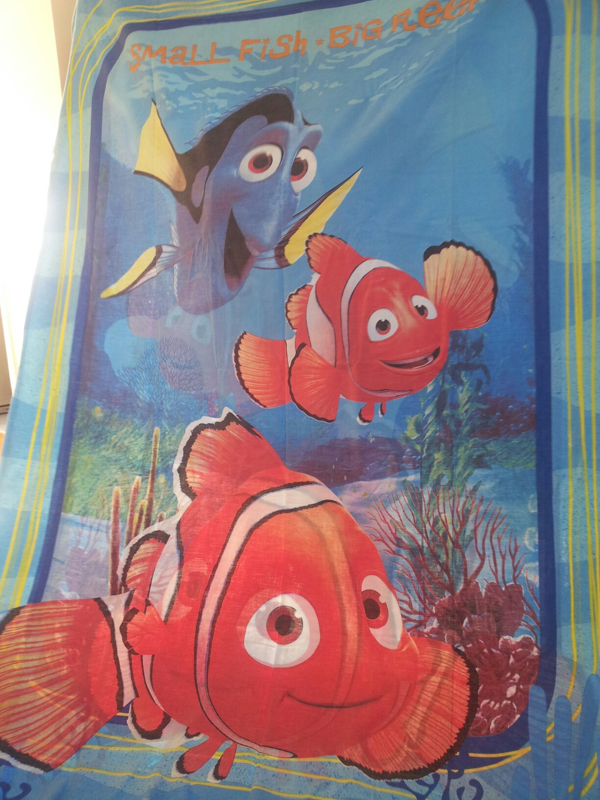 2x SINGLE FINDING NEMO DUVET COVERs DOUBLESIDED AND PILLOW CASES