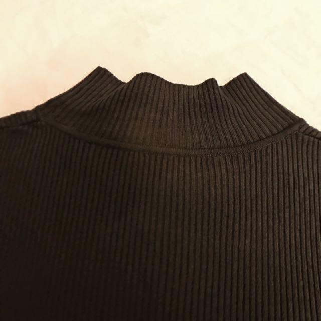 羅紋無袖高領上衣