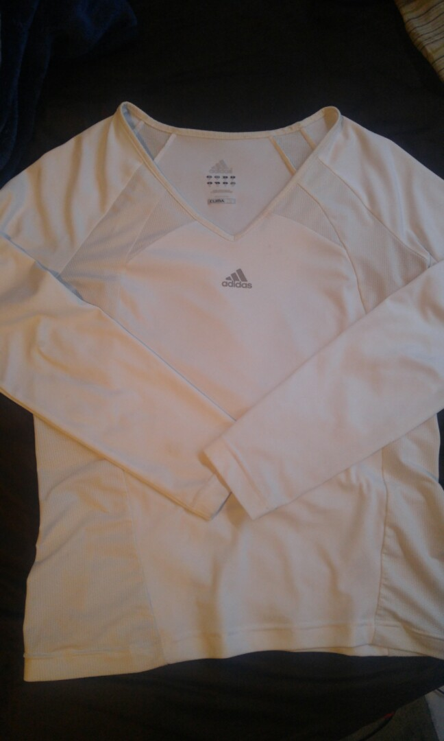 ,⚡Adidas long sleeve white shirt ( Flash sale today)
