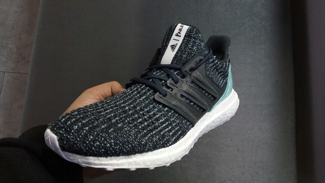a9c618ea2d5d4 Adidas Ultra Boost 4.0 Parley Carbon Black Blue Spirit 100% Original! Sku  (CG3673)
