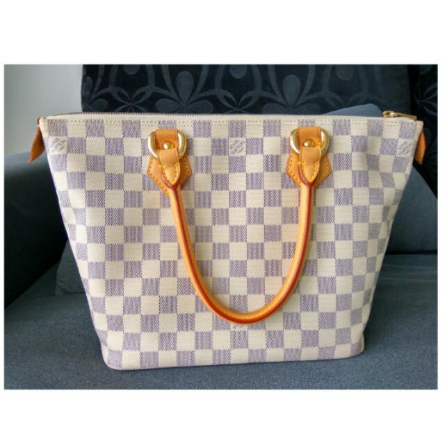 1ba75c7b20955 Authentic Louis Vuitton Saleya PM Damier Azur
