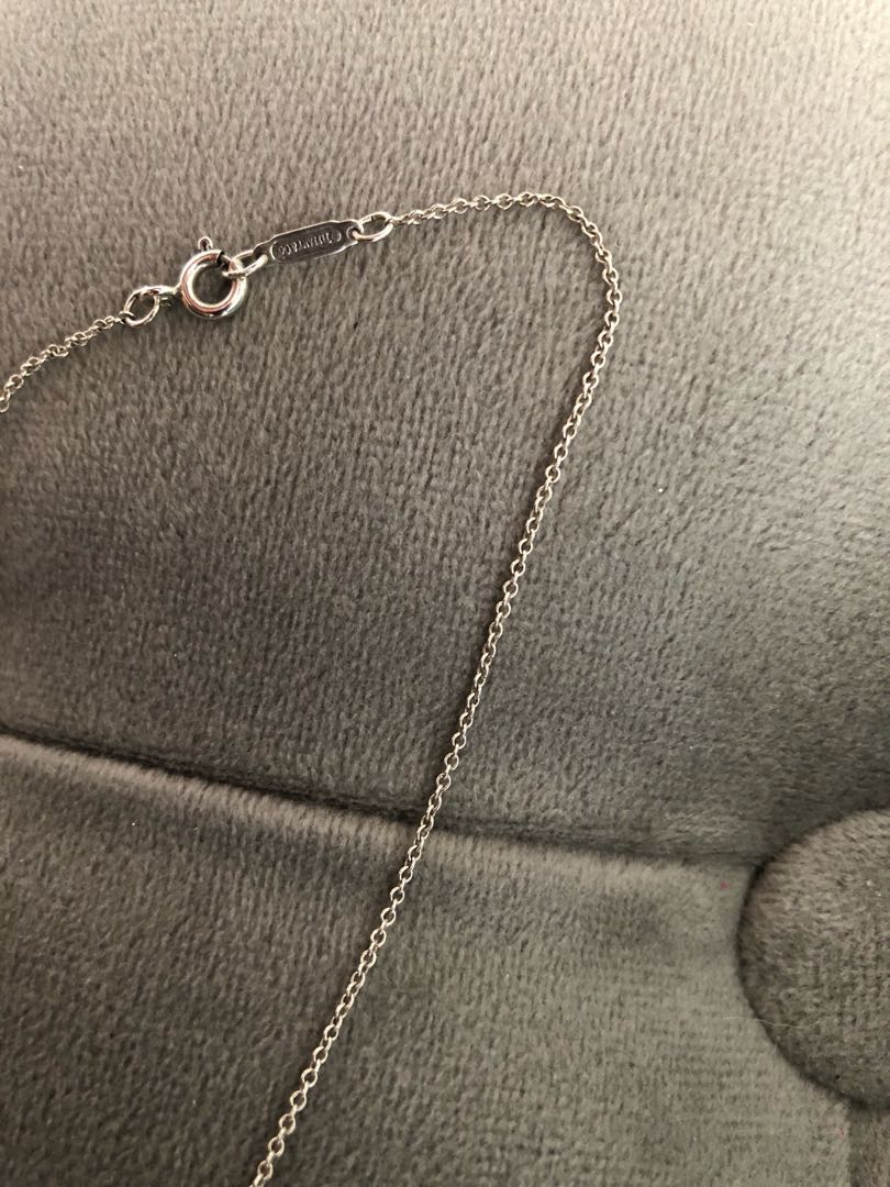 Authentic Tiffany Bar Pendant and Chain