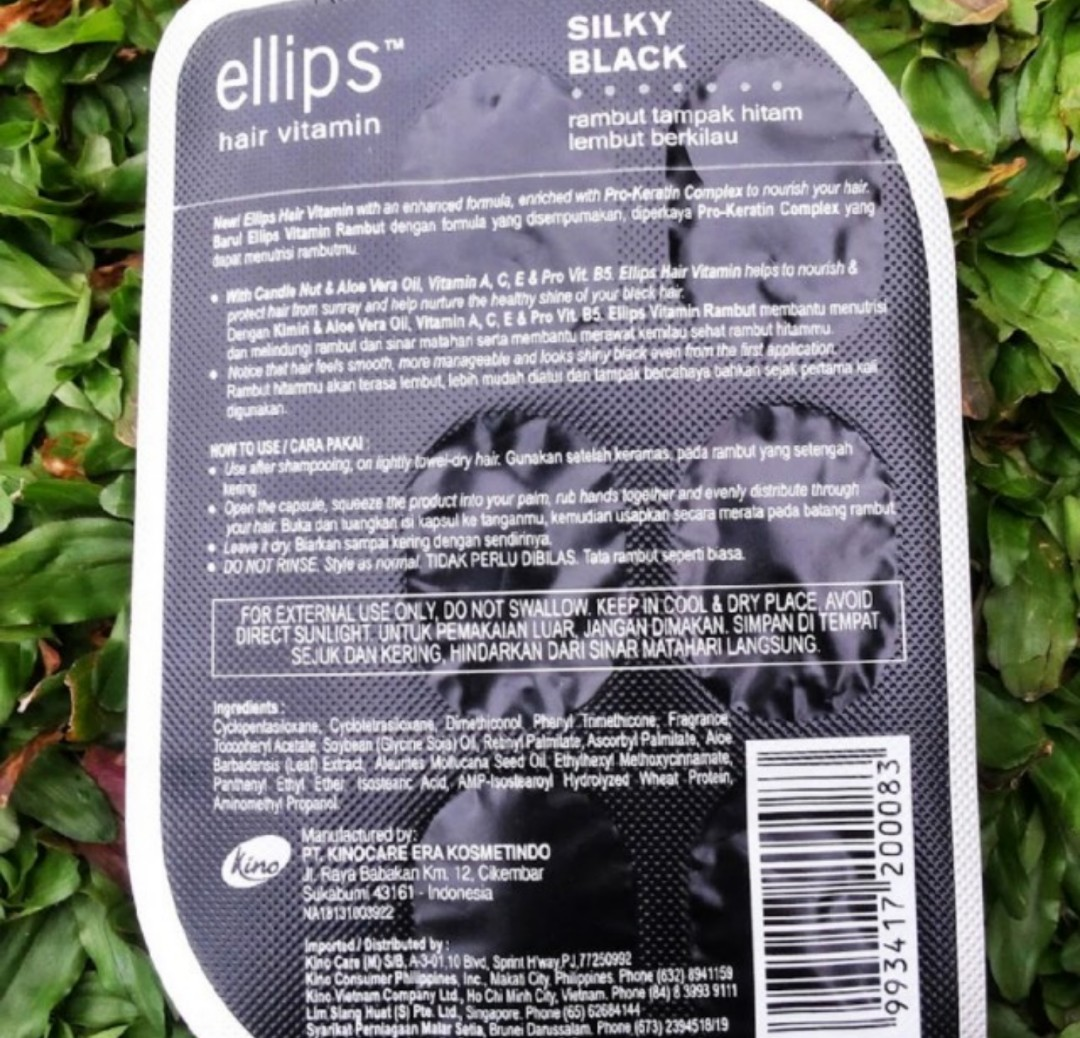 Ellips Hair Vitamin With Pro Keratin Complex Smooth Silky 50 Caps Ampamp Shiny Sachet 6 Capsule Brand New In Container Black Capsules