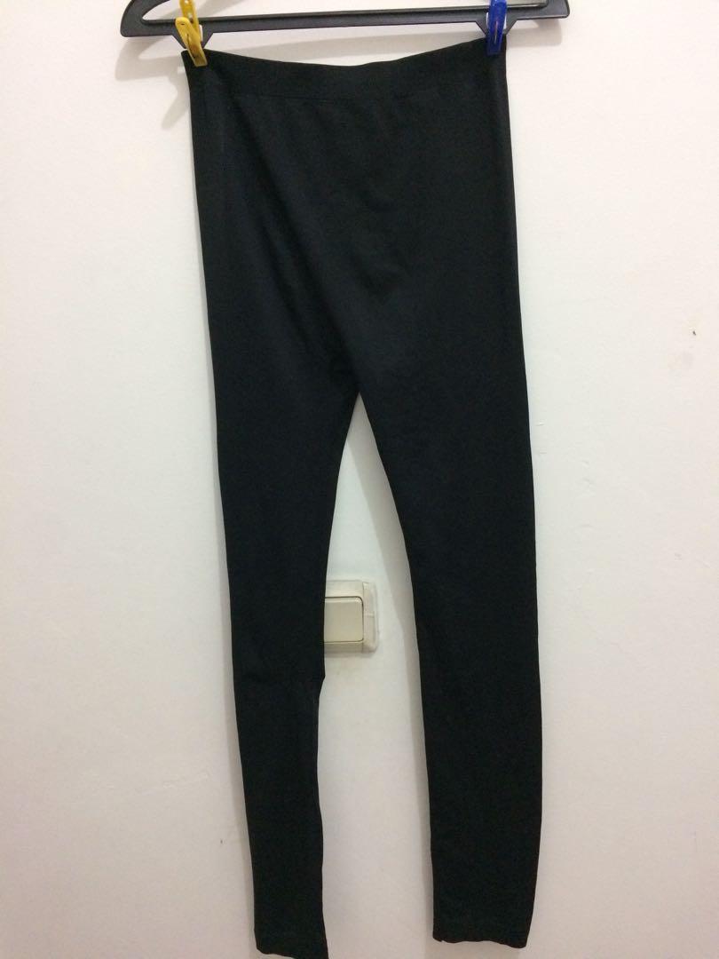 Celana Legging Hitam Fesyen Wanita Pakaian Wanita Di Carousell