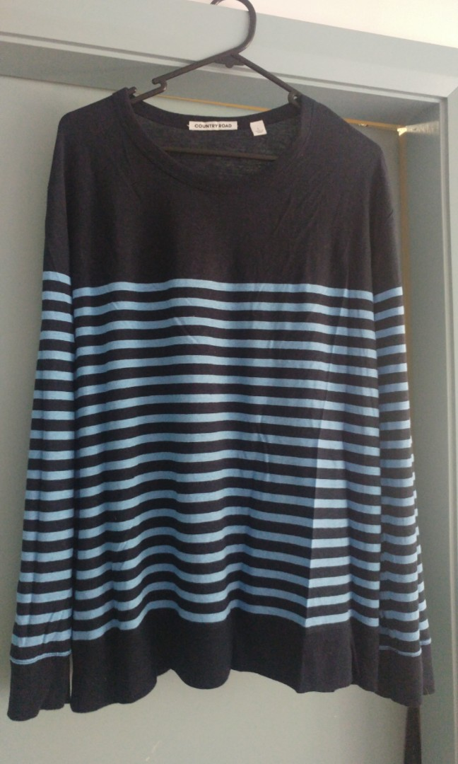 Country road light weight striped top