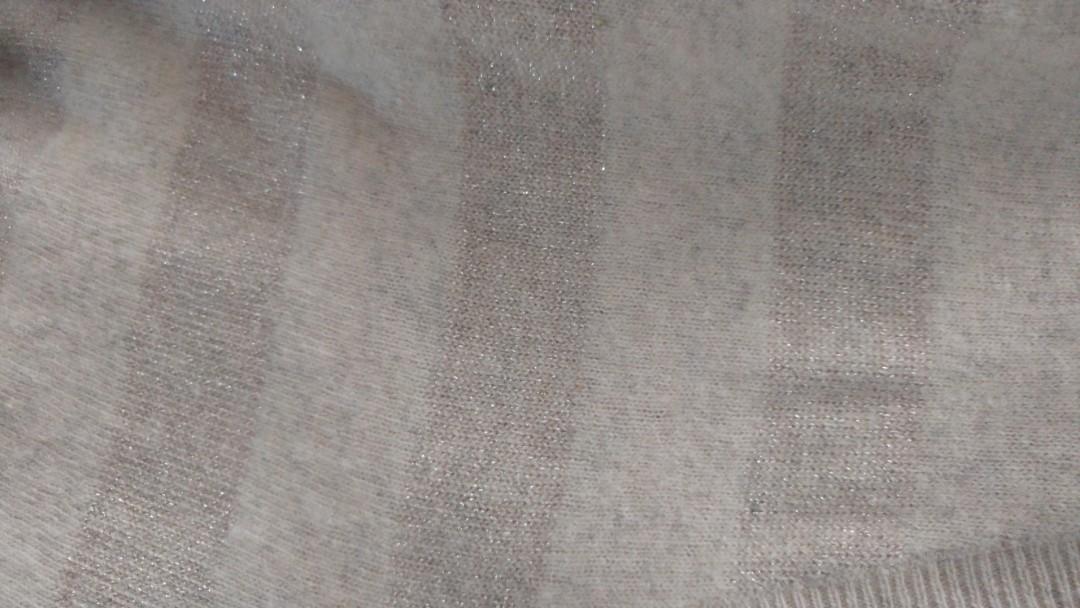 Country Road pink/beige metallic stripe wool jumper