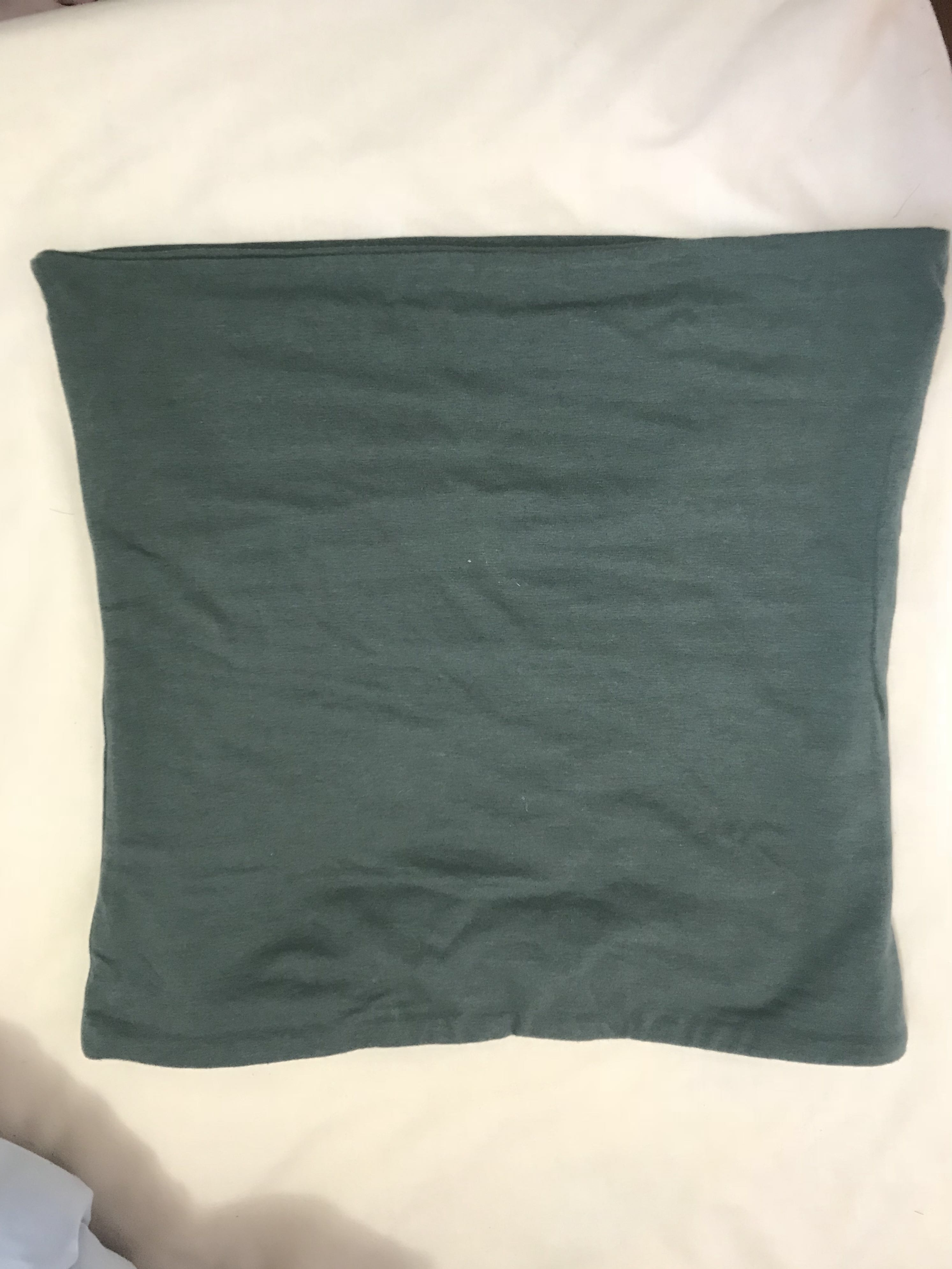 Green tube top (also available in black)