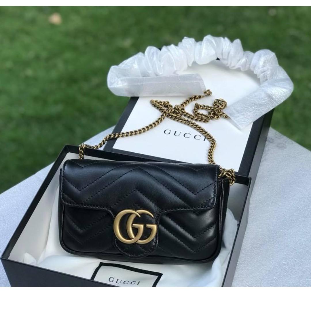 6975d9e2d9d Gucci Dionysus velvet super mini bag In Classic Black