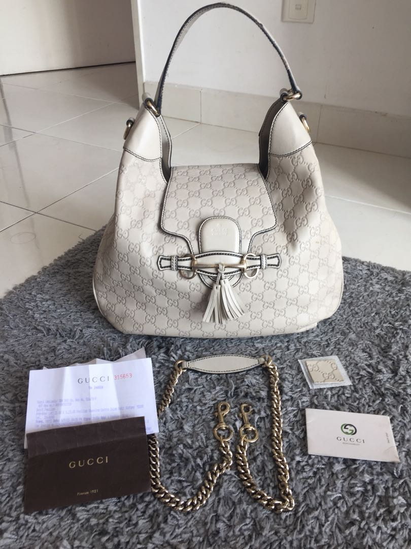 abf01a76d7a6 Gucci Emily Guccissima Leather Hobo, Luxury, Bags & Wallets on Carousell